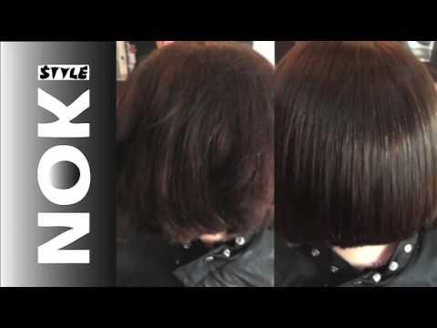 Brazilian Blow Drys Case Study Dark Auburn Short Bob Hairstyle
