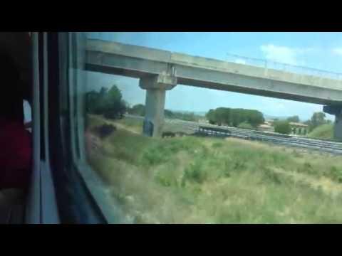 Train ride Pisa to Rome