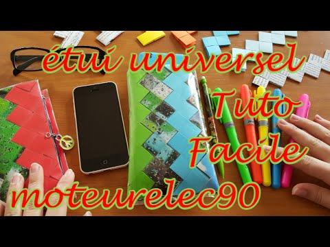 Housse (étui, pochette) universelle smartphone papier magazine Tuto facile