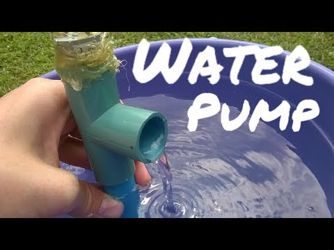 How to make a water pump from PVC pipe and a DC motor.