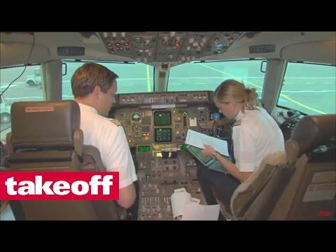 Condor Boeing 757 Frankfurt-Crete - English Voice Over - Español subtítulos - (1/3)