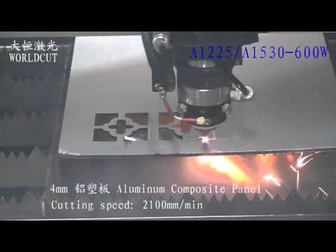 Worldcut 600w cuts 4mm Aluminum Composite