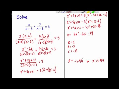 Equations: Advanced Algebraic Fractions