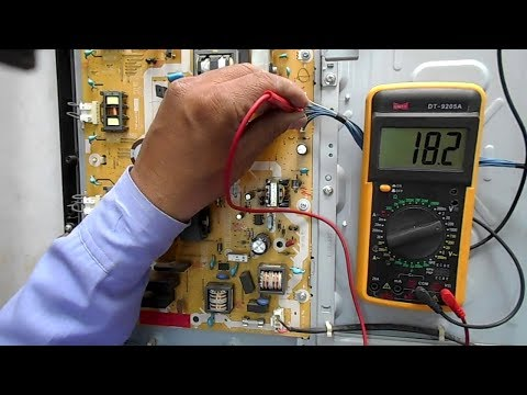 Voltage Distribution in Power Supply and Motherboard of Panasonic LCD TV Model No. TH- L32X24D