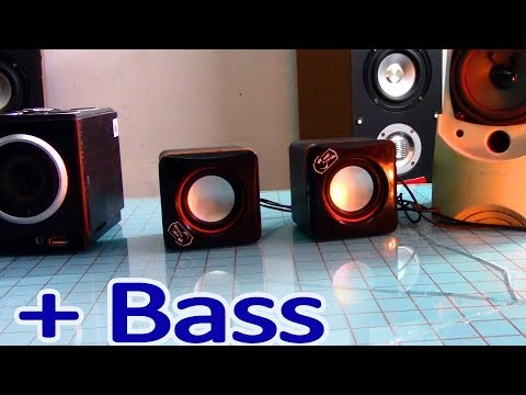 How to make your bass sound better on small speakets, increased bass