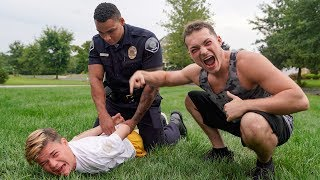 Arresting the kid that broke into my house