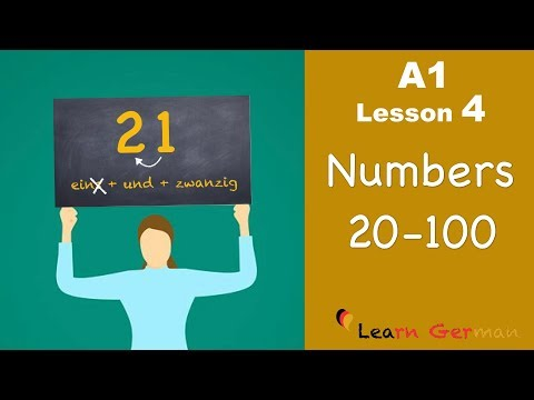 Learn German | Numbers (Part 2) | Zahlen | German for beginners | A1 - Lesson 4