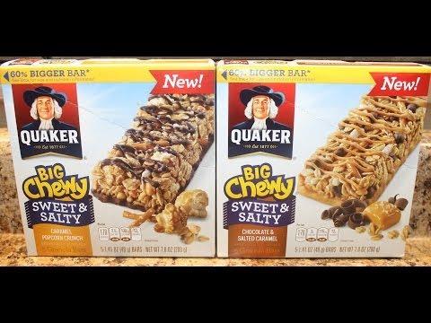 Quaker: Caramel Popcorn Crunch and Chocolate & Salted Caramel