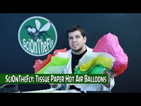 SciOnTheFly: Tissue Paper Hot Air Balloons