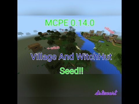 Minecraft Pocket Edition 0.14.0 Village  and Witch Hut Seed