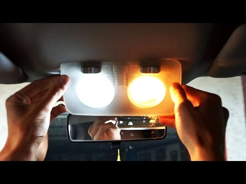 Fiat Bravo II dome light bulb change LED