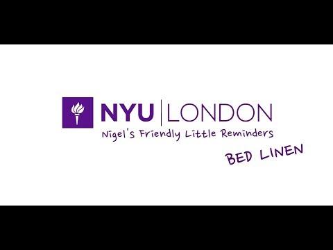 NYU LONDON - NIGEL'S FRIENDLY LITTLE REMINDERS / BED LINEN