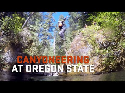 Canyoneering at Oregon State University