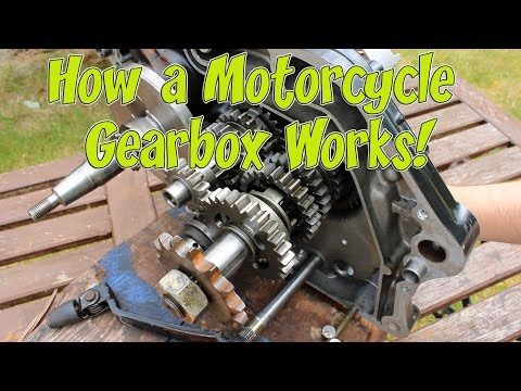 How a Motorcycle Gearbox Works!