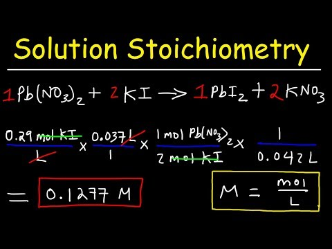Solution Stoichiometry Practice Problems & Examples  - Finding Molarity, Mass & Volume