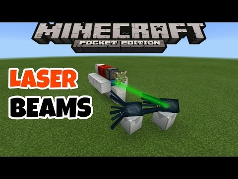 HOW TO MAKE A MACHINE LASER BEAMS IN MINECRAFT PE 0.16.0 | MCPE 0.16.0 TRICK/REDSTONE CREATIONS