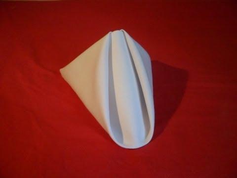 How To Fold Napkins - Pyramid Fold (Napkin Folding Video)
