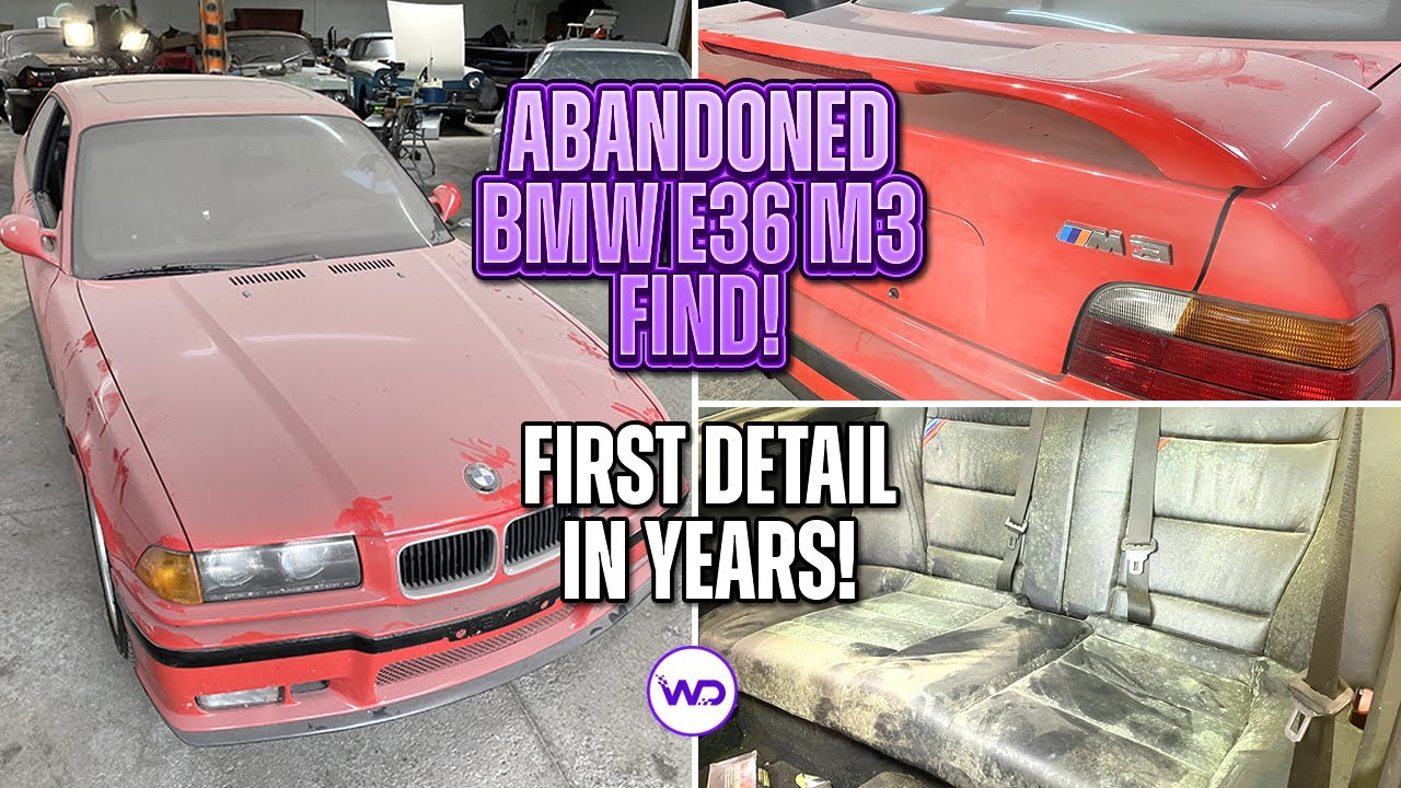 ABANDONED BODY SHOP FIND First Detail in Years BMW E36 M3! Satisfying Car Detailing Restoration