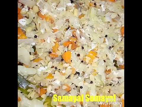 கேரட் முட்டைகோஸ் பொரியல்/Carrot cabbage poriyal/carrot muttaikos poriyal preparation in tamil