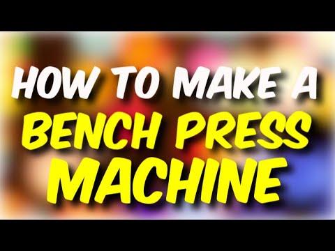 How To Make A Bench Press Machine In Minecraft!!