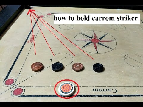 How to hold carrom striker |Hindi| 2017 by 4 POCKETS