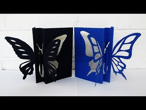 Butterfly card - learn how to make this butterfly paper craft from a template - EzyCraft