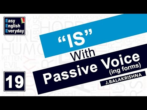 "Free English Grammar lessons | ""is"" with Passive Voice 
