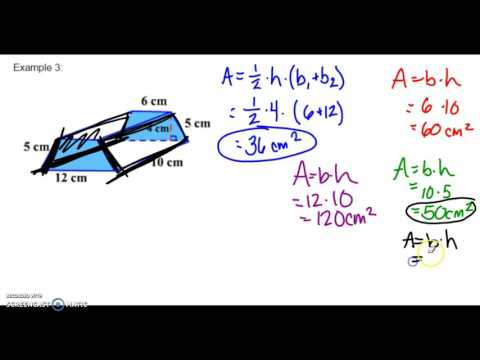 Surface area of Triangular & Trapezoidal Prisms Part 2