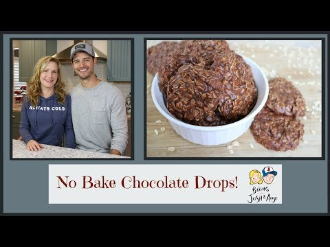 No Bake Chocolate Drops! | Baking With Josh & Ange