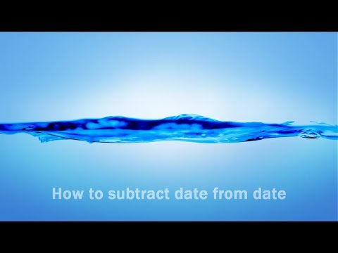 How to subtract 2 dates in mind without using excel or any other programming