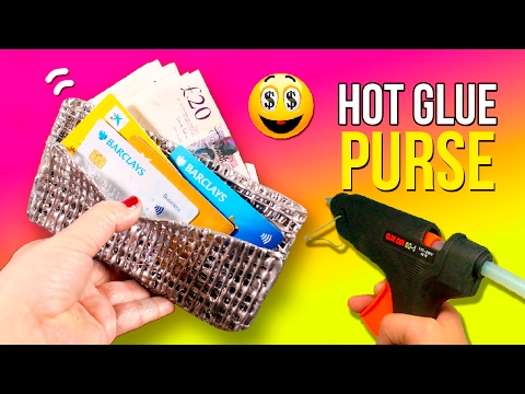 DIY Hot GLUE Wallet 💵 How to make a NO SEWING, super easy PURSE