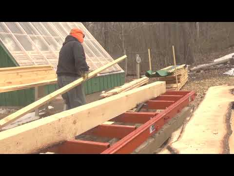 Cutting 2x6 and what to look for when cutting flitches Woodmizer LT15