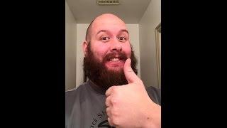 Shaving my beard with  Straight Razor