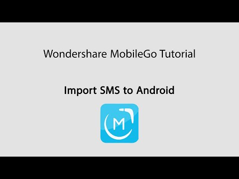 MobileGo: Import SMS/Messages from Computer to Android Phones