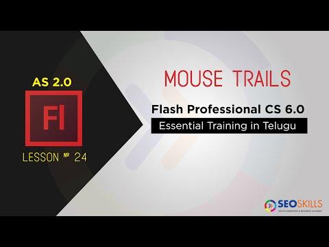 Mouse trails Tutorials Using Adobe Flash CS6