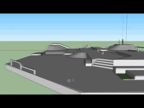 google sketchup - skatepark design 1