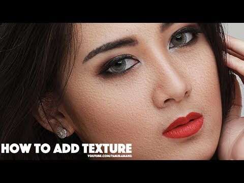 How To ADD Texture on Your Beauty Retouching   Photoshop Tutorial