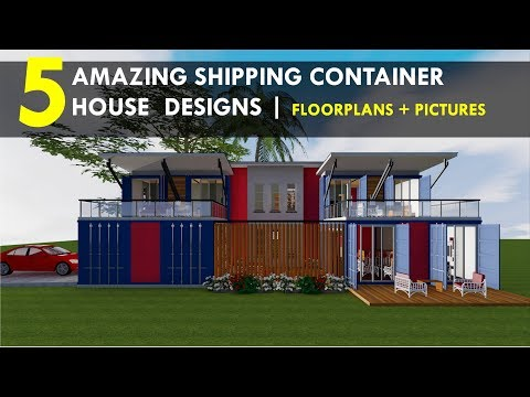 Best 5 Amazing Shipping Container House Designs with Floor Plans by ShelterMode