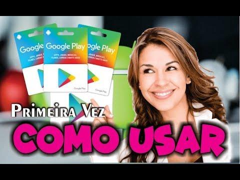 🤔COMO USAR CARTÃO GOOGLE PLAY (GIFT CARD) NA PLAY ST ORE / Cadastro passo a passo