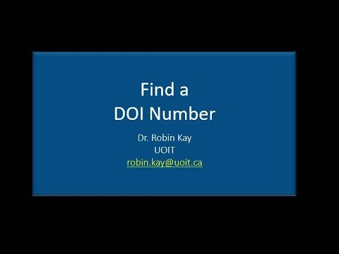 Finding DOI Number for an Article Quickly