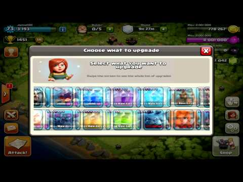 Clash of Clans - Maxing Out Base.. 60,000 Gems!! Max Level All Spells, Max Level