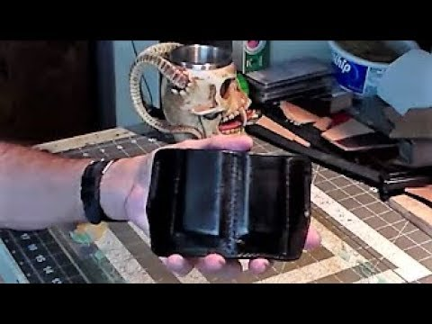 Part 6-6: Finishing a Molded Leather Double Mag Pouch