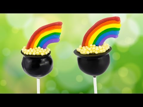 Pot of Gold Cake Pops for Saint Patrick's Day by Cookies Cupcakes and Cardio