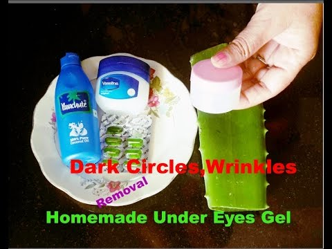Dark circles, wrinkles removal, anti ageing eye cream DIY powerfull homemade under eye gel