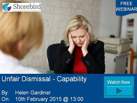 Unfair Dismissal Capability