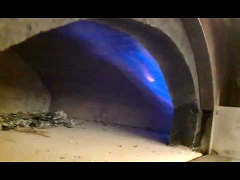 Custom built brick oven with gas