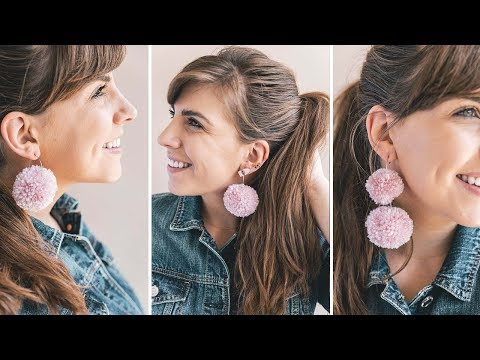 DIY Scrap Yarn Earrings - 3 ways!
