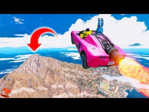 GUESS IF THE ANIMATRONICS CAN LAND THE 99,999 FOOT JUMP! (GTA 5 Mods For Kids FNAF RedHatter)