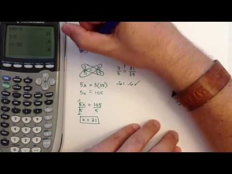 Using the Cross Product to Solve a Proportion