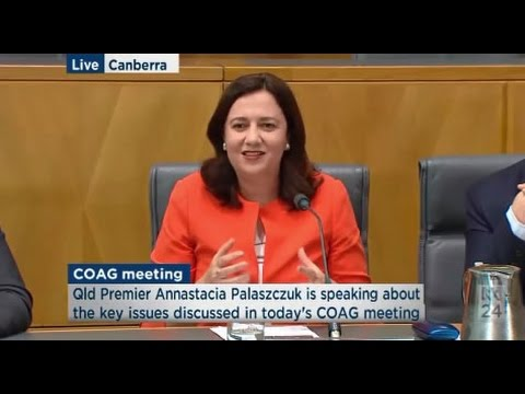 Qld Premier Annastacia Palaszczuk comments on December 2016 COAG